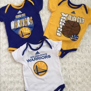 new product c24c7 46e21 Adidas 12M Baby Golden State Warriors Body Suits